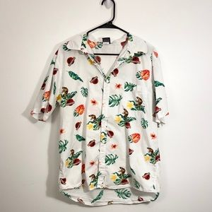 Jurassic Park button up Hawaiian t-shirt.